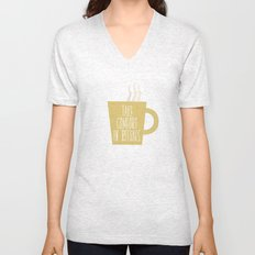 Take Comfort in Rituals. Coffee. Unisex V-Neck