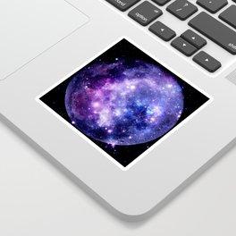 Galaxy Planet Purple Blue Space Sticker