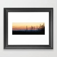Forest Fire Sunset Framed Art Print