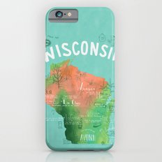 Wisconsin Map iPhone 6s Slim Case