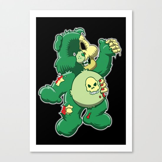 Zombie care bear Canvas Print
