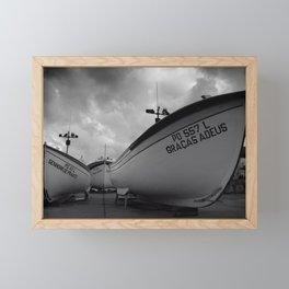 Fishing boats Framed Mini Art Print
