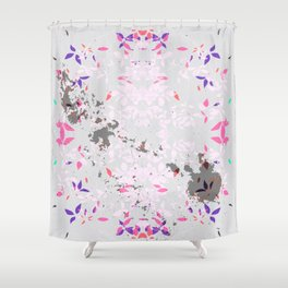 SYCAMORE STAMP SCRATCH PASTEL Shower Curtain