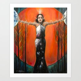 Strength - Tarot Card Art Art Print