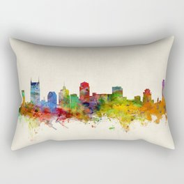 Nashville Tennessee Skyline Cityscape Rectangular Pillow