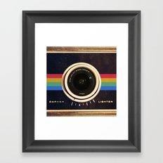 Modern Vintage inspired Camera! Framed Art Print