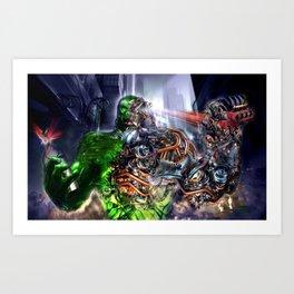 Green Ape Evolution Art Print