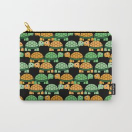 Turtle Pattern (Black/Orange/Green) Carry-All Pouch