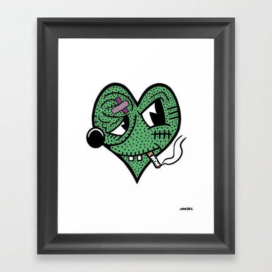 BAD HEART. Framed Art Print