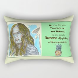 No Time for your Tomfoolery - Psych quotes Rectangular Pillow