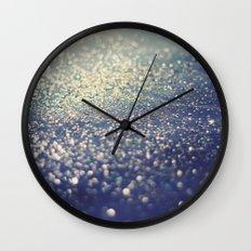 Glitter on Blue Wall Clock