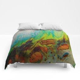 Neon Burn - Abstract Acrylic Art by Fluid Nature Comforters