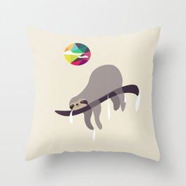 Sleeping Beauty...Sloth Throw Pillow