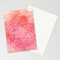 Pink Watercolor Mandala #lifestyle #society6 Stationery Cards