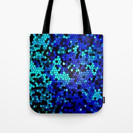 STAINED GLASS BLUES Tote Bag