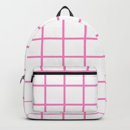 GRID DESIGN (PINK-WHITE) Backpack