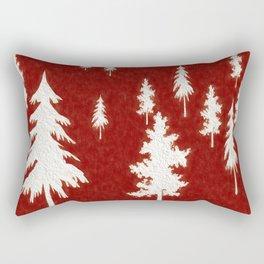 White trees Rectangular Pillow