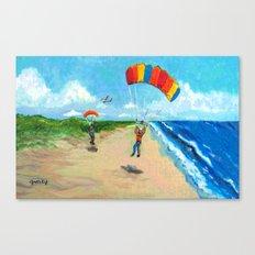 Skydive Beach Landing Canvas Print