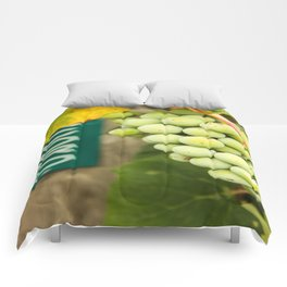 Green Concord Grapes Comforters