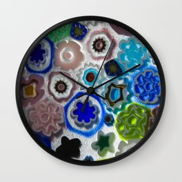 Millefiori Wall Clock