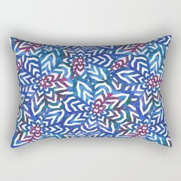 I don't need to improve - Blue and pink Rectangular Pillow
