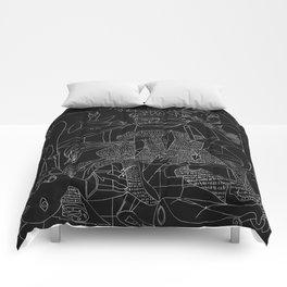 Picasso Line Art - Guernica (Black) Comforters