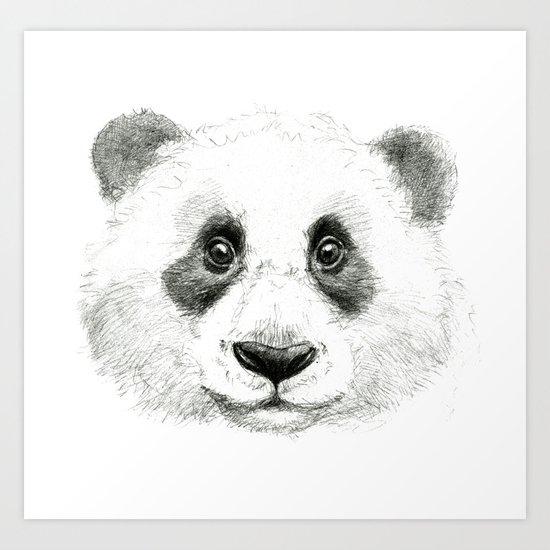 Giant Panda portrait SK063 Art Print