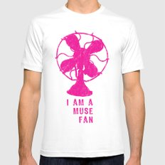 i am a muse fan MEDIUM Mens Fitted Tee White