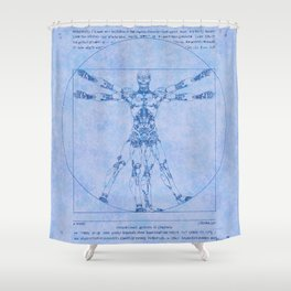 Proportions of Cyberman Shower Curtain