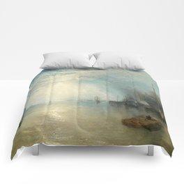 "J.M.W. Turner ""Keelmen Heaving in Coals by Moonlight"" Comforters"