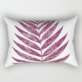 Simple Botanical Design in Dark Plum Rectangular Pillow