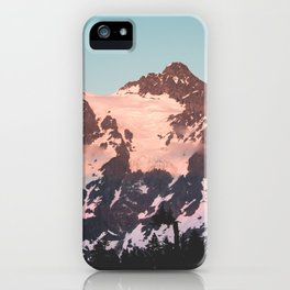 Pink Cascade Mountain iPhone Case
