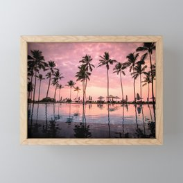 Pastel Sunset Palms Framed Mini Art Print