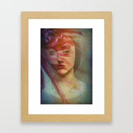 Last century woman Framed Art Print