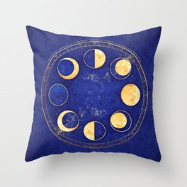 Celestial Atlas :: Lunar Phases Throw Pillow