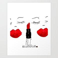 Red Lipstick Club Art Print