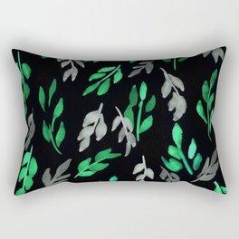 180726 Abstract Leaves Botanical Dark Mode 17 Botanical Illustrations Rectangular Pillow