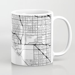 Minimal City Maps - Map Of Long Beach, California, United States Coffee Mug