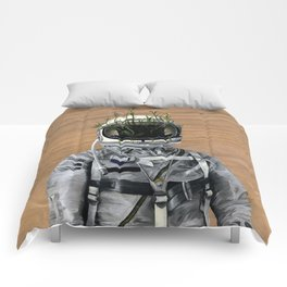 Cacti | Spaceman No:1 Comforters