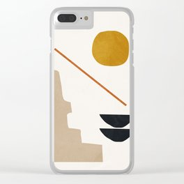 abstract minimal 6 Clear iPhone Case