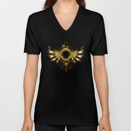 Mechanical Wings ( Steampunk Wings ) Unisex V-Neck
