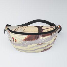 Sledding At Christmas Time Fanny Pack
