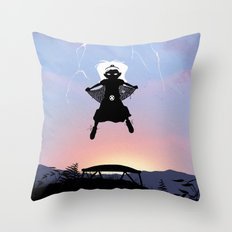 Storm Kid Throw Pillow