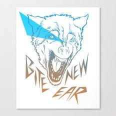Bite New Year Canvas Print