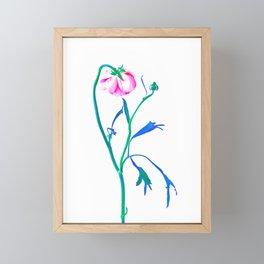 One Flower - Study 3. Back Framed Mini Art Print