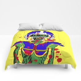 Zombie Football Player Comforters