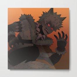 Werewolf Bakugou Metal Print