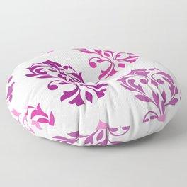 Heart Damask Art I Pinks Plums White Floor Pillow