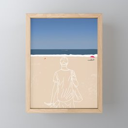 Going to the beach Framed Mini Art Print