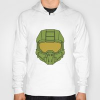 master chief Hoodies featuring Master Chief Helmet - Halo MCC by RoboKev